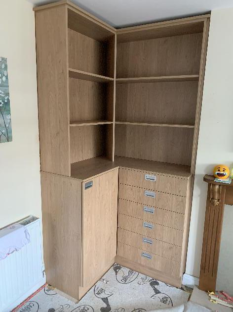 Bespoke DVD storage drawers and shelves-Joinery NG16